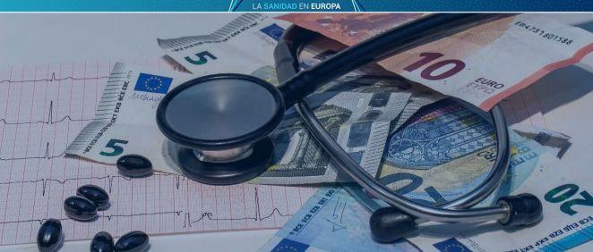 El gasto sanitario en España es inferior a la media de la Unión Europea (Foto. Fotomontaje ConSalud.es)