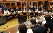Imagen de la reunión de la Comisión del Juego de Aragón. (Foto. Gobierno de Aragón)