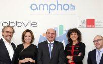 Antonio Bañares, Carina Escobar, Jon Guajardo, Blanca Fernández-Lasquetty y Andrés García (Foto. Sedisa y AbbVie)