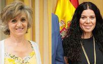 María Luisa Carcedo, ministra de Sanidad en funciones, y Patricia Lacruz, directora general de Cartera Básica de Servicios del SNS y Farmacia (Montaje ConSalud.es)