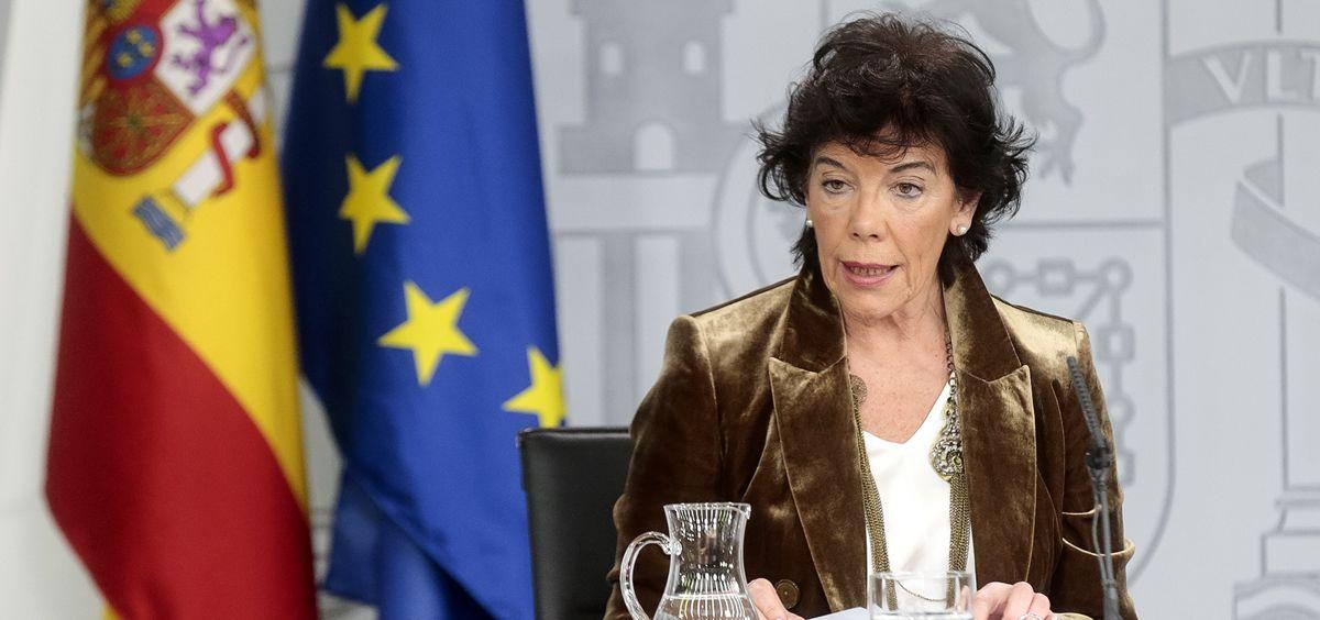 Isabel Celaá, portavoz del Gobierno (Foto: Pool Moncloa / JM Cuadrado)
