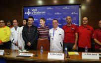 Profesionales del Hospital Vall d´Hebrón, los bomberos de la Generalitat de Cataluña y el Sistema d'Emergències Mèdiques (Foto. Vall d´Hebrón)