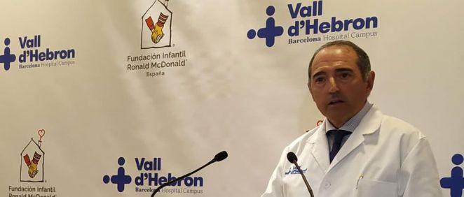 Albert Salazar, gerente del Vall d´Hebron. (Foto: Twitter Vall d´Hebron)