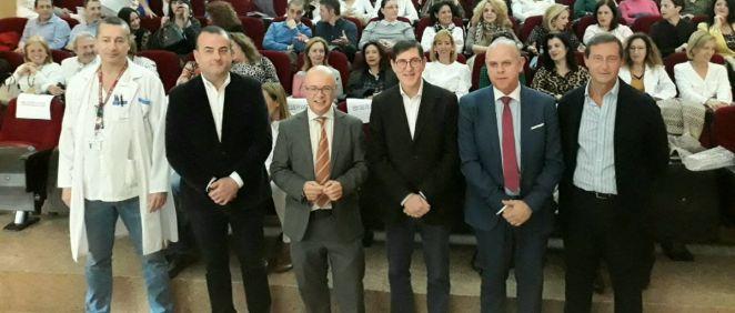 El consejero de Salud, Manuel Villegas,en el I Encuentro de Supervisores de Enfermería (Foto. Gobierno Región de Murcia)