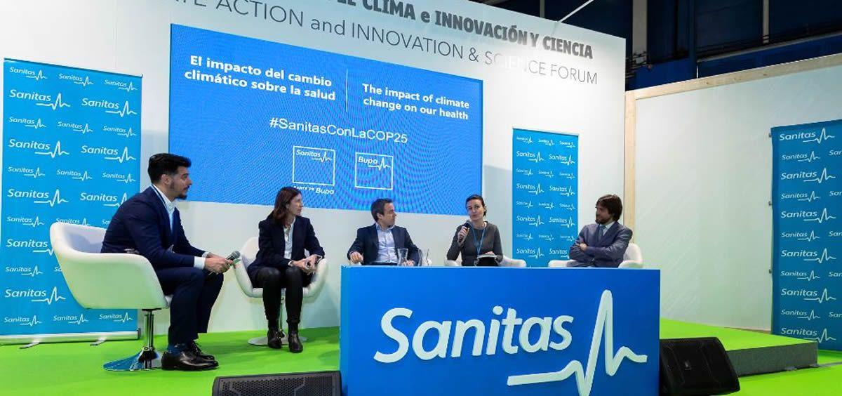 Mesa redonda organizada por Sanitas durante la COP25. (Foto. Sanitas)