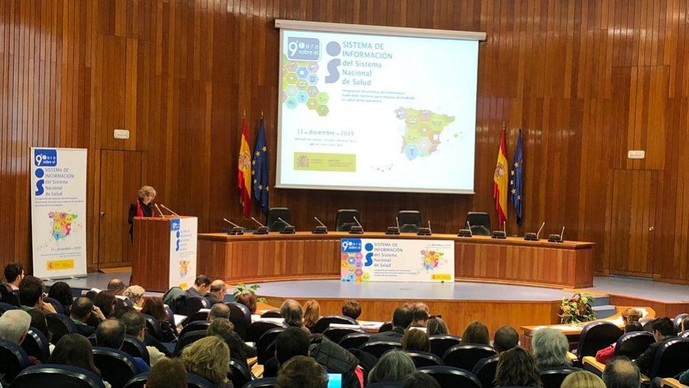 María Luisa Carcedo, minisra de Sanidad en funciones, inaugura la jornada 'Sistema de Información del SNS' (Foto: Ministerio de Sanidad)