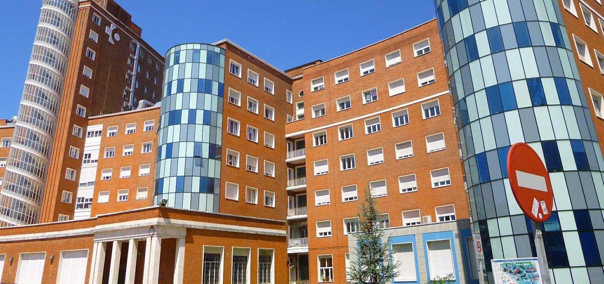 Fachada del Hospital de Cruces de Barakaldo en el que fue atendido el paciente (Foto. Hospital de Cruces)