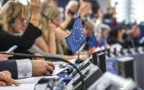 Eurodiputados durante una votación en el pleno (Foto: Parlamento Europeo)