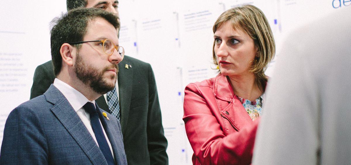 Pere Aragonés y Alba Vergés, vicepresidente y consejera de Salud de la Generalitat de Cataluña (Foto: Govern)