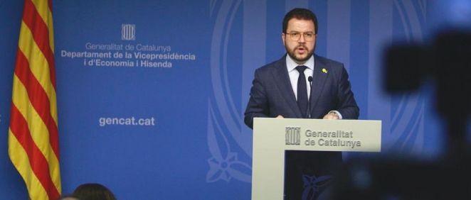 Pere Aragonés, consejero de Economía y Hacienda de la Generalitat de Cataluña (Foto: @vicepresicat)