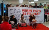 Concentración de pacientes en el Hospital de Verín. (Foto @MMMGaliza)