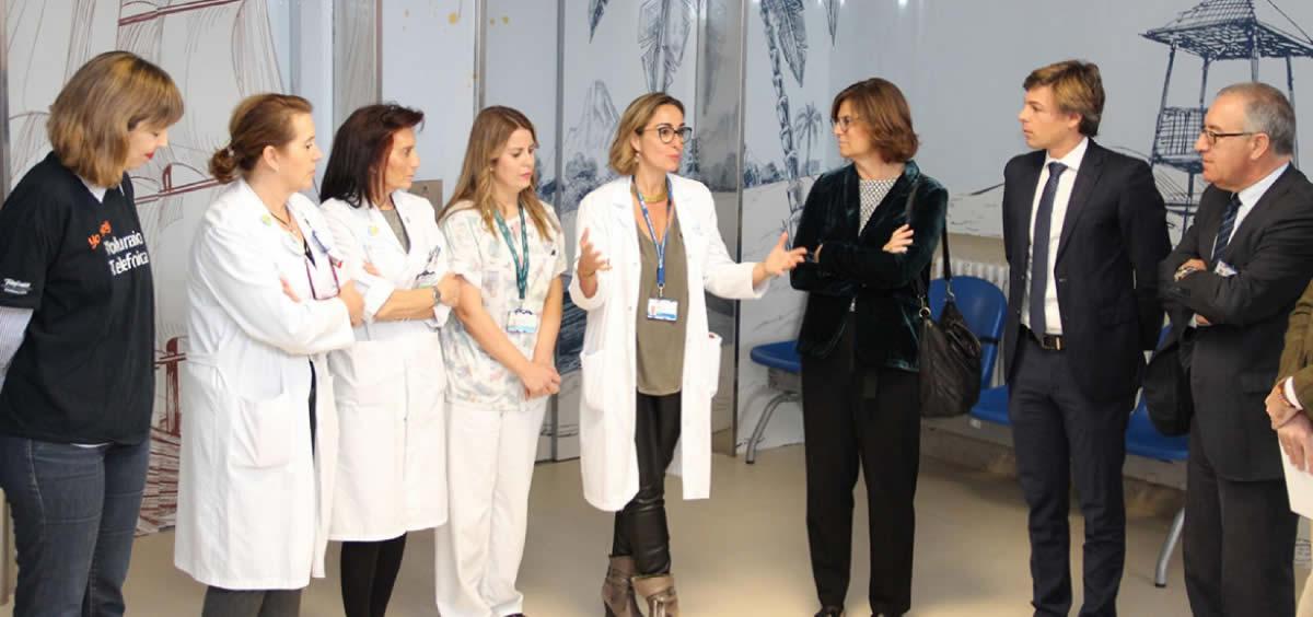 El área de Pediatría del Hospital Clínico se sumerge en un mundo submarino e interactivo (Foto. Comunidad de Madrid)