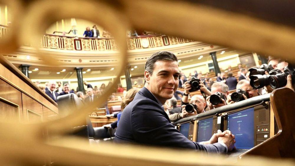 Pedro Sánchez, presidente del Gobierno en funciones, en el Congreso (Foto: PSOE)