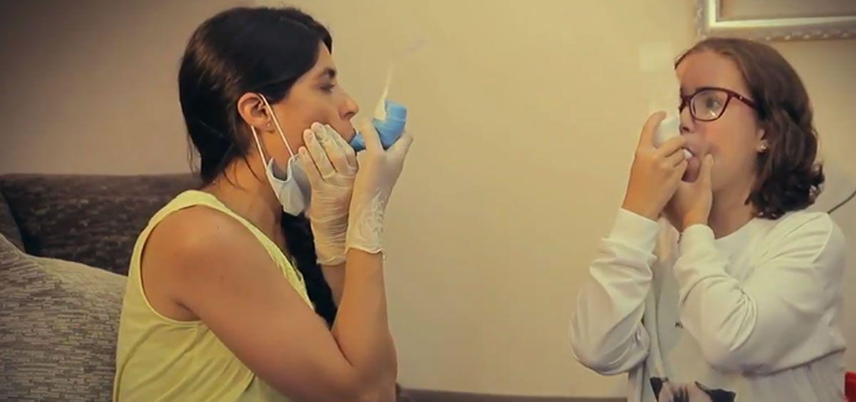 Formación domiciliaria, fisioterapia respiratoria (Foto. FEFQ)