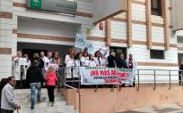 Concentración de médicos tras la última agresión a un médico la semana pasada en Málaga (Foto. ConSalud)