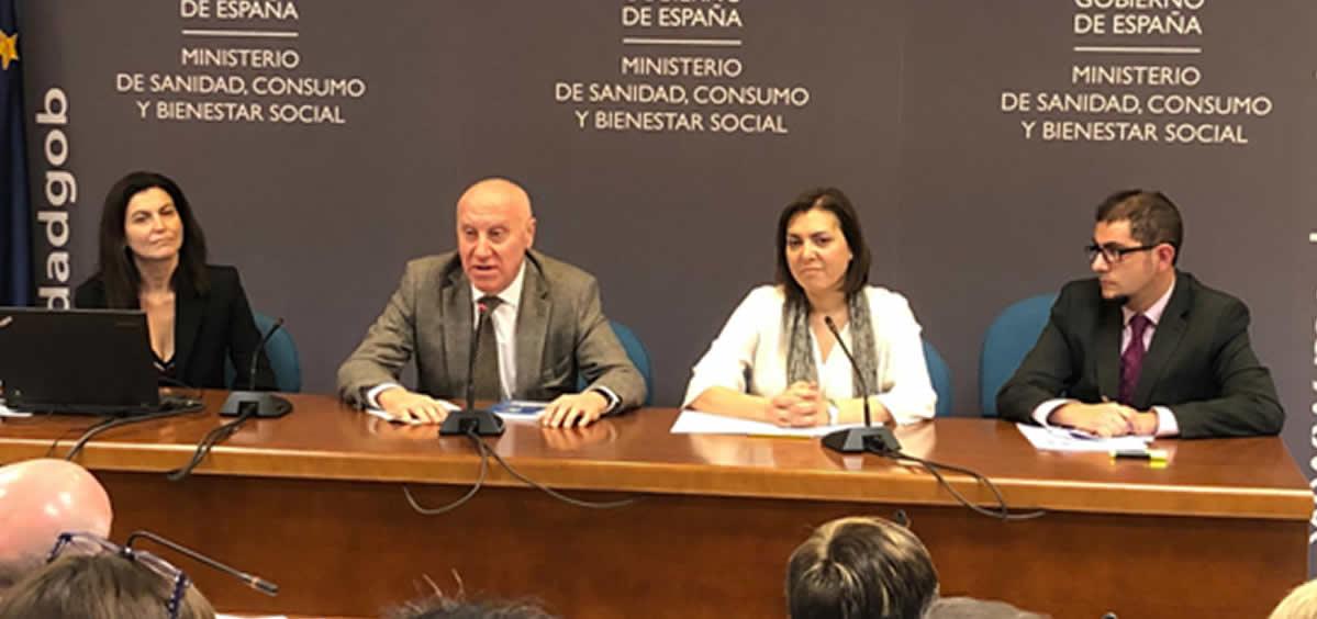 Miembros del Comité Científico-Técnico de la Talidomida durante la rueda de prensa. (Foto. Ministerio de Sanidad)