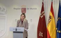 Ana Martínez Vidal, Consejera de Empresa, Industria y Portavoz de la Región de Murcia (Foto. Gobierno de Murcia)