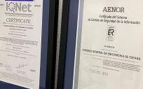 Reconocimiento Aenor (Foto. CGE)