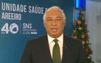 El primer ministro de Portugal, António Costa, durante el mensaje de Navidad (Foto: @govpt)