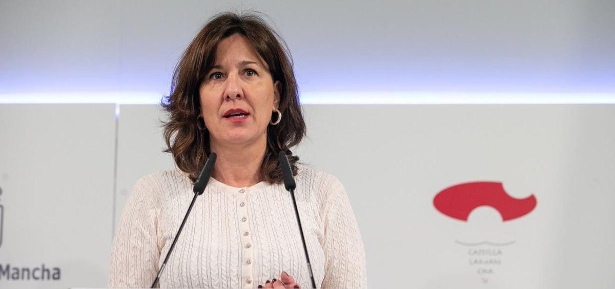 Blanca Fernández, consejera de Igualdad y portavoz del Gobierno de Castilla La Mancha (Foto. Gobierno de Castilla-La Mancha)