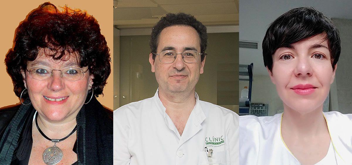 De izq. a der.: África González, Arantza Alfranca y Manel Juan Otero, miembros de la directiva de la Sociedad Española de Inmunología.