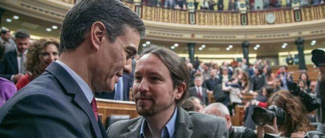 Pedro Sánchez y Pablo Iglesias, en el Congreso de los Diputados (Foto: PSOE / Eva Ercolanese)