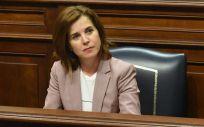 La consejera de Sanidad, Teresa Cruz Oval, en el Parlamento autonómico (Foto: Gobierno de Canarias)