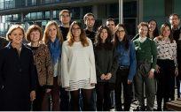 Investigadores del CIBERESP en el Centro de Investigación en Salud Laboral (Cisal) (Foto. CIBERESP ISCIII)