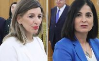 La ministra de Trabajo y Economía Social, Yolanda Díaz y la ministra de Política Territorial y Función Pública, Carolina Darias. (Fotomontaje ConSalud.es)