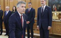 El ministro del Interior, Fernando Grande Marlaska, durante la toma de posesión de su cargo en el Palacio de La Zarzuela. (Foto. Casa Casa de S.M. el Rey)