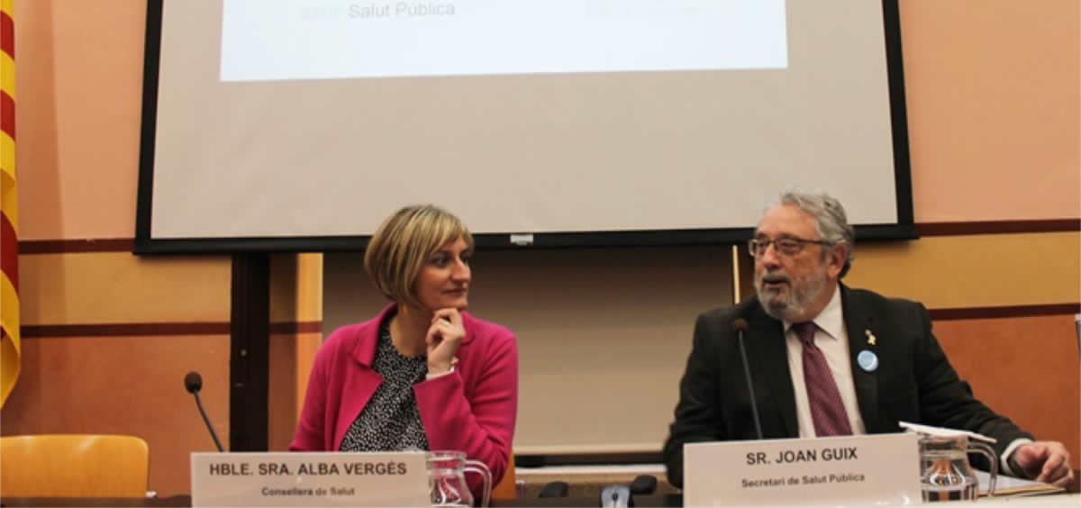 La consejera Alba Vergés y el secretario de Salud Pública, Joan Guix (Foto. Gobierno de Cataluña)