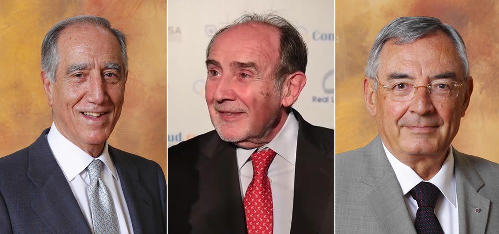 De izqda. a dcha.: el Profesor Enrique Moreno, el presidente de la RANME, Joaquín Poch, y el profesor Francisco José Rubia.