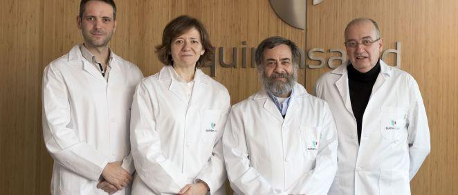 Juan Castro, Carme Ares, Alejandro Mazal y Raymond Miralbell, equipo médico del Centro de Protonterapia de Quirónsalud (Quirónsalud)