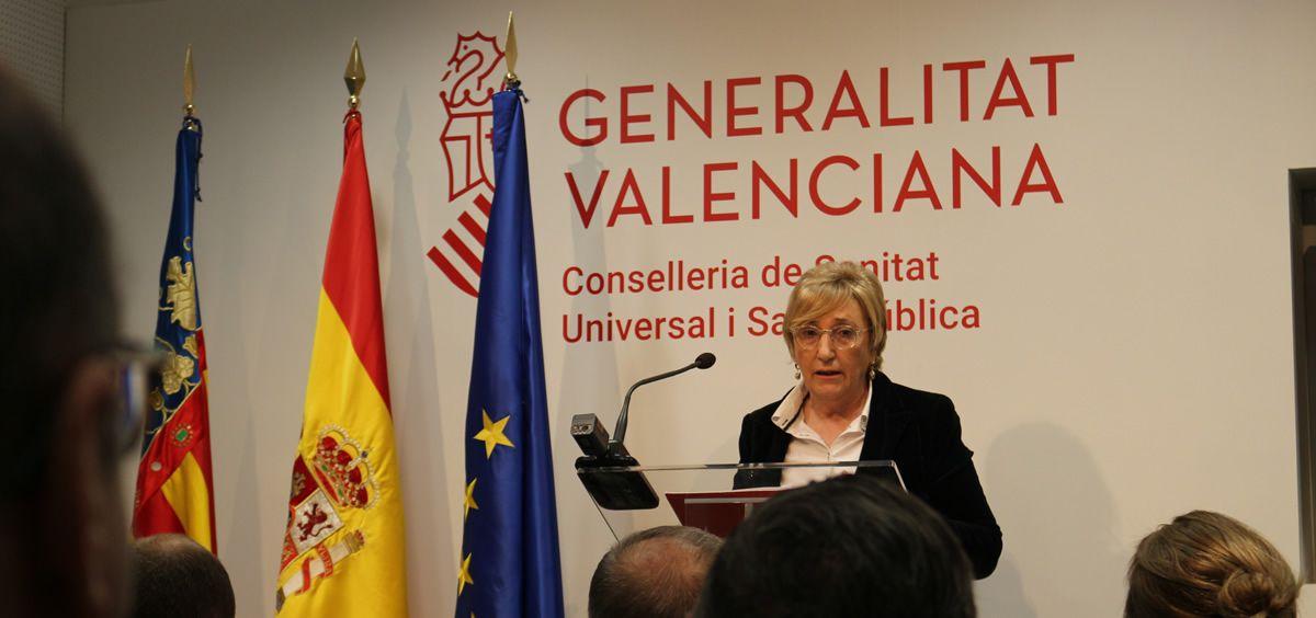 Ana Barceló, consejera de Sanidad Universal y Salud Pública de la Comunidad Valenciana (Foto. Generalitat Valenciana)