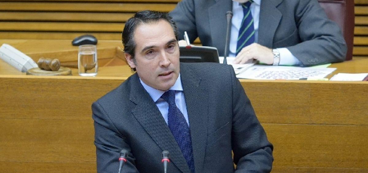 El portavoz parlamentario del PPCV, Ruben Ibáñez. (Foto. PPCV)