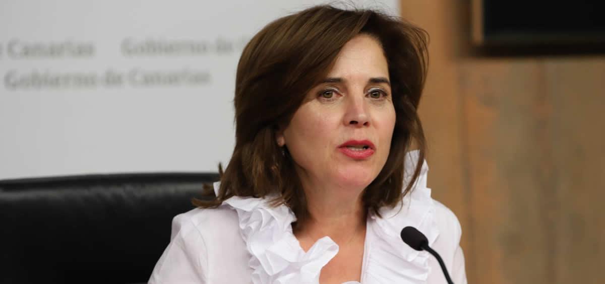 La consejera de Sanidad de Canarias, Teresa Cruz, (Foto. @PresiCan)