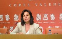 Carmen Martínez, portavoz socialista de Sanidad en Las Cortes Valencianas ha culpado de la actual situación a la anterior gestión del gobierno popular en materia sanitaria (Foto. PSPV-PSOE)