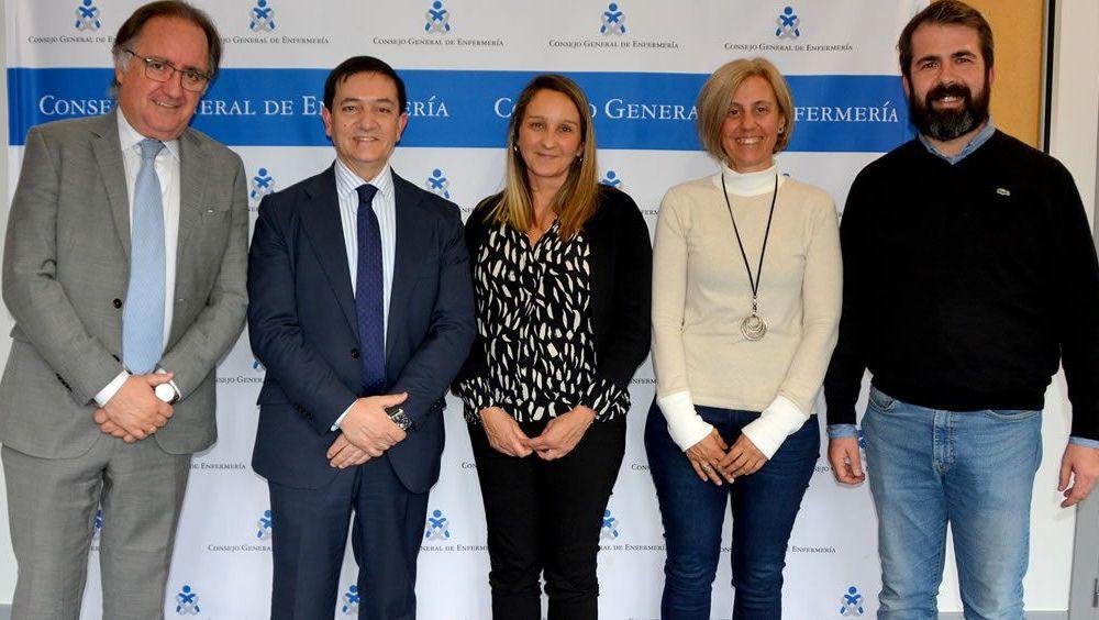 Reunión ente el Consejo General de Enfermería (CGE) y la Sociedad Española de Neumología y Cirugía Torácica (Separ). (Foto. CGE)
