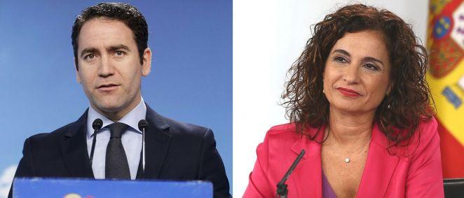 Teodoro García Egea, secretario general del PP, y María Jesús Montero, ministra de Hacienda (Montaje ConSalud.es)