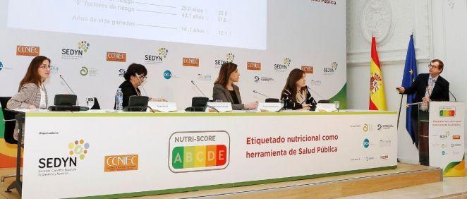Jornada Nutri Score celebrada en el Instituto de Salud Carlos III (Foto. Ministerio de Ciencia e Innovación)