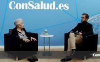 La paciente de artrosis y tesorera de la Asociación Española con la Osteoporosis y la Artrosis (Aecosar), Carmen Sánchez, durante la entrevista (Foto: ConSalud.es)