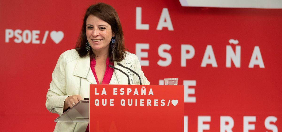 Adriana Lastra, portavoz del PSOE en el Congreso (Foto: Flickr PSOE)