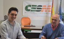 Antonio Pujol de Castro, presidente de CEEM, junto a Gabriel del Pozo, secretario general de CESM (Foto. ConSalud)