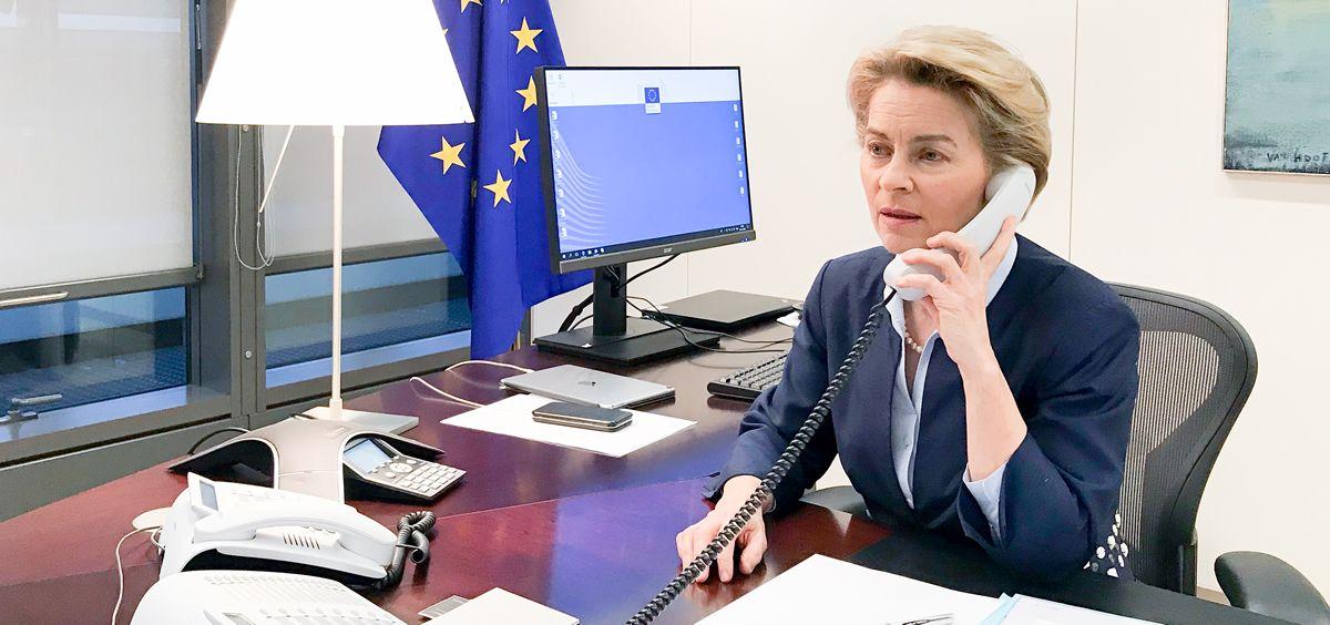 Úrsula von der Leyen, presidenta de la Comisión Europea (Foto: @vonderleyen)