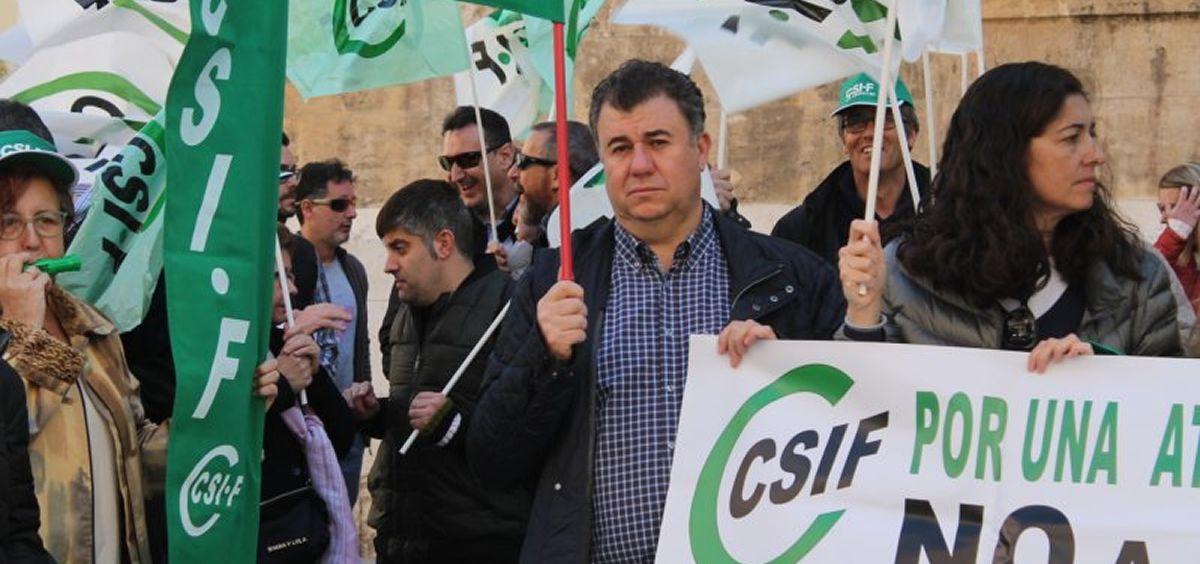 Miguel Ramírez, delegado de CSIF en Hospital de Requena. (Foto. CSIF)