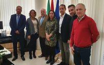 Responsables del sector de Sanidad de CSIF Andalucía junto al consejero de Salud, Jesús Aguirre y representantes del SAS. (Foto. CSIF)