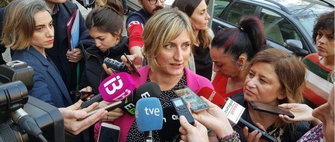 La consejera de Salud, Alba Vergés, a su llegada al Ministerio de Sanidad. (Foto. ConSalud)