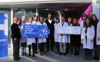 Con esta donación la fundación persigue la promoción de la investigación con el objetivo de mejorar la calidad de vida de los niños enfermos de cáncer y sus familias (Foto. Vall d´Hebron)