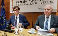 Salvador Illa, ministro de Sanidad, junto a Faustino Blanco, secretario general de Sanidad (Foto: ConSalud.es)