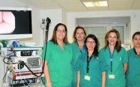 Equipo de la Unidad de Endoscopia del servicio de Aparato Digestivo de La Candelaria (Foto. Gobierno de Canarias)